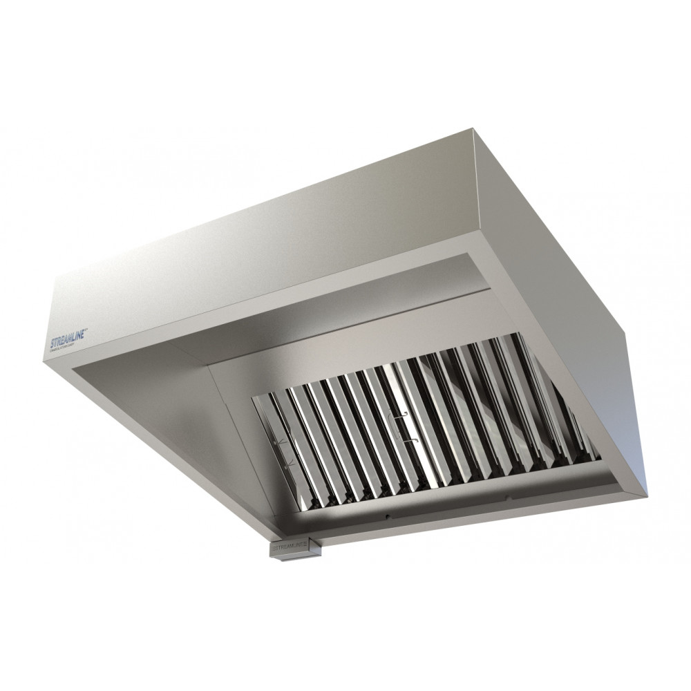 Industrial Kitchen Ventilation Hoods: Commercial Kitchen Extraction Canopy Kit 1200 Mm